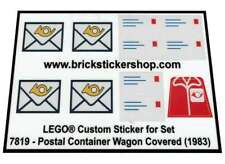 Precut Custom Replacement Stickers voor Lego Set 7819 - Postal Container Wagon C