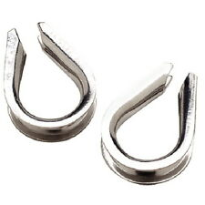 2 Pack of 3/8 Inch Stainless Steel Wire Rope Anchor Line Thimbles for Boats