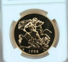 1992 GREAT BRITAIN GOLD 5 SOVEREIGN NGC MS 69 DPL VERY SCARCE PROOF LIKE