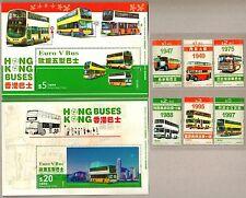 China Hong Kong 2013 Bus Stamps + 2 Souvenirs Sheets