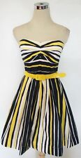 NWT TEEZE ME Navy / White / Yellow Party Dance Dress 11