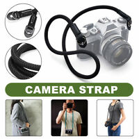 Black HandMade Rope & Leather Braided Shoulder Single Neck Strap For Leica Sony