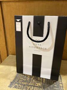 Anya Hindmarch Paper Gift Shopping Carrier Bag  Ribbon New 29 X 22 Cm