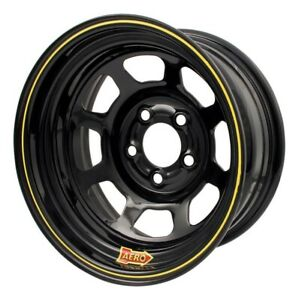 Aero Race Wheels - 50-Series - 15x8 - 4in BS - 5x5 - Steel - Black