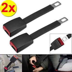 2x 25CM Black Universal Car Safety Seat Belt Extender Extension Buckle Lock Clip