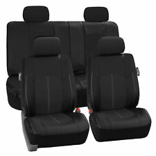 Deluxe PU Faux Leather Sport Seat Cover for Cars, Trucks & SUVs - Black