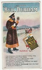 RARE Orig Advertising Postcard c 1910 - Bull Durham Smoking Tobacco Russia