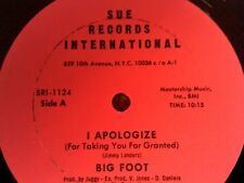 "Big Foot 12"" SINGLE.... SUE RECORDS  ""I APOLOGIZE""/ ""WATCH YOUR STEP"""