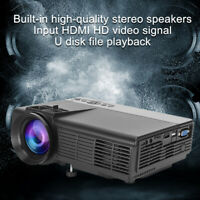Mini Portable HD Family LED Micro Video Projector 1000LM Home Theater Cinema
