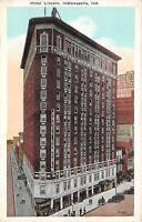 Indianapolis Indiana 1920s Postcard Hotel Lincoln