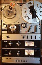 AKAI M-9  PORTABLE REEL TO REEL TAPE DECK PLAYER / RECORDER W/ SPEAKERS CLEAN!!!