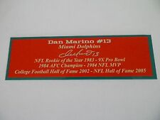 Dan Marino Autograph Nameplate Miami Dolphins Autograph Jersey Ball Photo Helmet