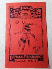 1937/8 - Arsenal v Wolverhampton Wanderers
