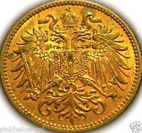 Austria - Austrian Empire - Austrian 1914 2 Heller Coin  High Grade RARE