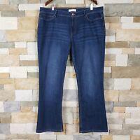 J Jill  Womens Sz 18 Authentic Fit Slim Boot Cut Blue Medium Wash Jeans