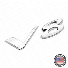 For Jaguar V8 Fender Liftgate Car Suv Logo Emblem Badge Nameplate R Sport Chrome