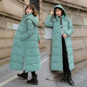 Winter Womens Ladies Cotton-padded Jackets Hooded Puffer Coats Long Parka M-3XL