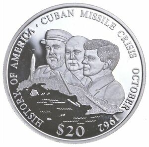 SILVER - WORLD COIN - 2001 Liberia 20 Dollars - World Silver Coin *828