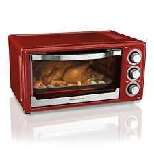 Hamilton Beach 6 Slice Toaster Convection Broiler Oven Red  31514
