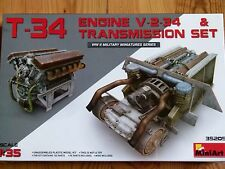 Miniart 1:35 T-34 V-2-34 Tank Engine And Transmission Set Model Kit