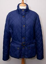 Puffa women's warm blue diamond quilted padded country outdoors jacket uk 16