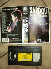 *MICHEL SARDOU K7 VIDEO PAL CONCERT AU FOREST NATIONAL DE BRUXELLES LA DEBANDADE