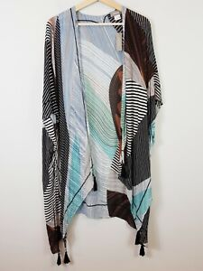[ SUSSAN ] Womens Print Poncho scarf NEW + TAGS    One Size