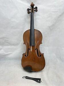 """Vintage Copy Stradivarius Violin For Restoration. Back Measures 14"""""""