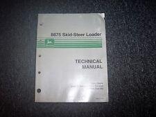 John Deere 8875 Skid Steer Loader Technical Repair Service Shop Manual TM1566