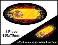 OVALE FADE TO BLACK Spagna spagnolo Bandiera Vinile per Auto Camion Furgone Adesivo Decalcomania 150mm