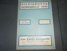 PIEDIGROTTA GENNARELLI 1929 ERNESTO TAGLIAFERRI CANZONE NAPOLETANE NAPOLI