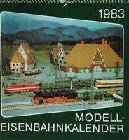 Kalender Bild und Heimat Modelleisenbahnkalender komplett 1983 B17107