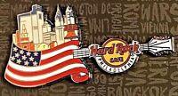 Hard Rock Cafe Philadelphia Core City Over Flag Guitar Series Pin 2017 NEW 95115