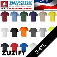 Bayside Union Made in the USA Short Sleeve Pocket T-Shirt. 3015