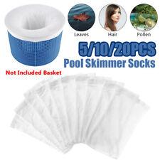 5/10/20Pcs Filter Storage Pool Skimmer Socks Nylon Swimming Pool Filter Socks[