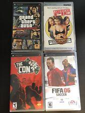 Psp Games (FIFA, THE CON, AMERICAN PIE MOVIE, GRAND THEFT AUTO)