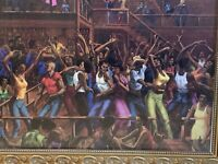 "African American Bar orJuke Joint Dancers. 16"" x 20"". In Gold Ornate Frame."