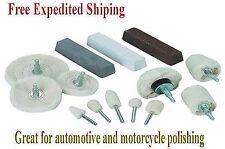 Polishing Polisher Kit Wheels Buffer Billet Aluminum Rims Detailing Buffing