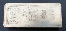 1 kg 1.000 Gramm Silberbarren 999 Feinsilber Credit Suisse Silber