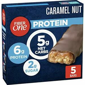 Fiber One Protein Bar Caramel Nut Chewy Bars 6g Protein Snacks 5 ct.
