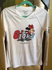 Marathon DISNEY Minnie Mouse 2017 Champion Double Dry Running Shirt White Small