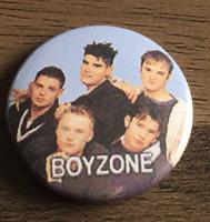 BOYZONE BUTTON BADGE 90s BOYBAND No Matter What - Ronan Keating  25mm D PIN