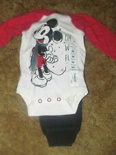 Boys Disney by Jumping Beans Nwt Mickey Mouse bodysuit and pant set size Newborn