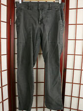 James Perse Linen Blend Jeans Sz 28 Black Distressed Almost Dark Gray Weathered