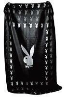 Playboy Fleecedecke Vliesdecke Kuscheldecke Square Bunny schwarz 403896