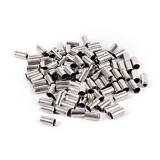 100pcs Bicycle Housing End Caps Bike Ferrules Ferrule Brake Cable New Metal ZYRA