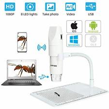 Wireless Digital Microscope WiFi USB Camera 50x &1000x Zoom HD 1080P Professi...