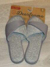 Dearfoams Memory Foam Womens Indoor Outdoor Slippers Gray 5-6