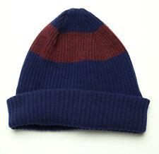 8f1f84f30aceeb Paul Smith PS Lambswool Navy Stripe Beanie Winter Hat Mens OS