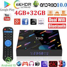 6K T95 Android 10.0 4+32G Smart TV BOX Dual WIFI BT5.0 USB HDMI2.0 Media Player